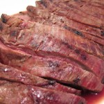 Grilled Flank Steak with Coffee Marinade