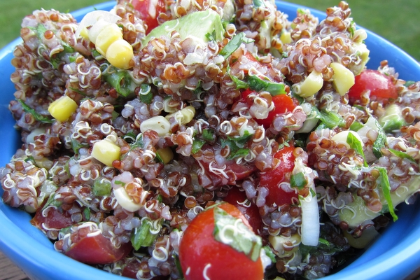 Quinoa With Corn, Tomatoes, Avocado, And Lime Recipes — Dishmaps