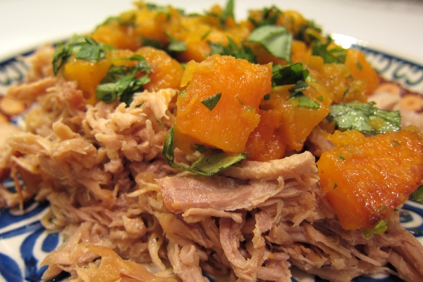 Shredded Pork with Asian-Lime Squash