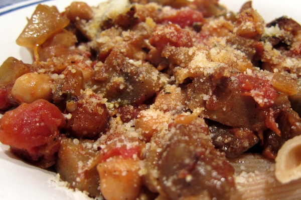 Gratin of Eggplant, Tomatoes and Chickpeas