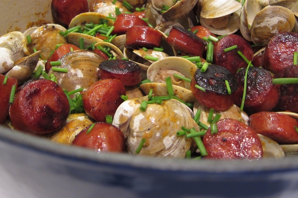 Clams and Chorizo with Sherry