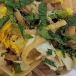Linguine with Crab, Lemon, Jalapenos and Mint