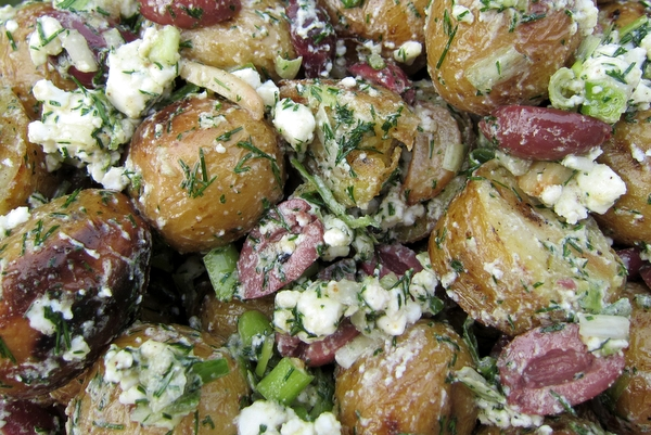 ... salad with grilled potatoes, it's equally good if you just boil the