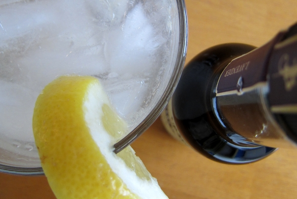 Lavender-Lemon Vodka Tonic