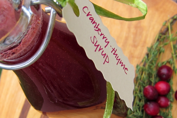 Cranberry-Thyme Syrup