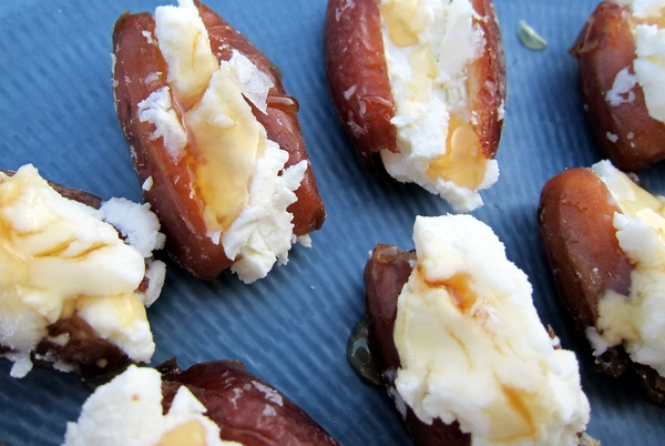 Goat Cheese Stuffed Dates