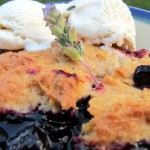 Gluten-Free Blueberry and Lavender Cobbler