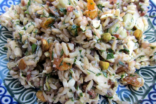 Fava Bean, Apricot and Pistachio Rice Salad