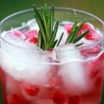 Pomegranate-Rosemary Gin Cocktail