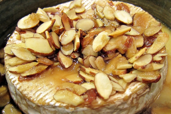 Bourbon and Almond Baked Brie