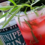 Raspberry-Tarragon Gin Cocktail