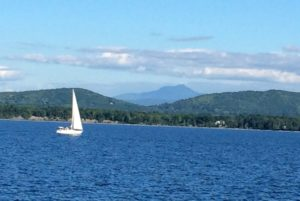 Lake Champlain and VT Green Mountains