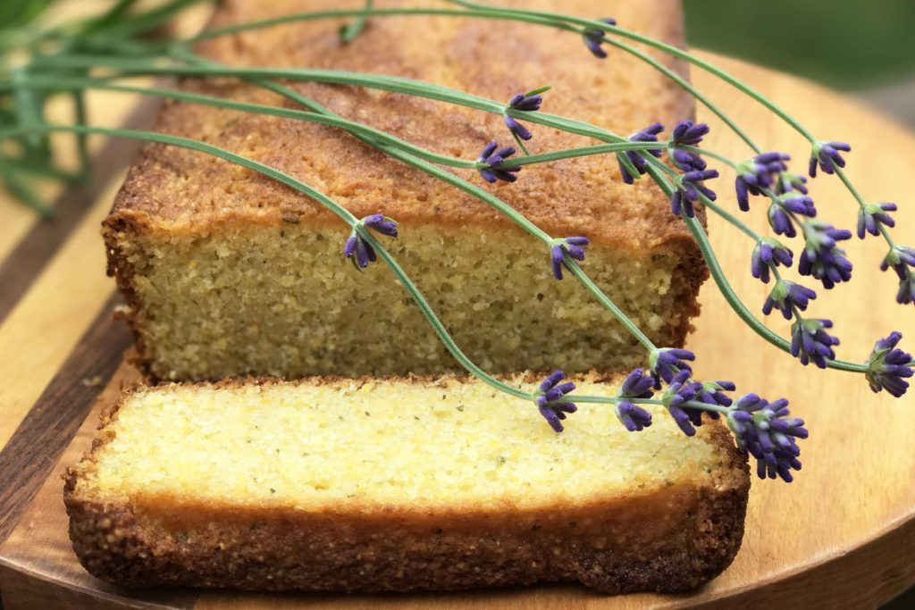 Lavender and Lemon Olive Oil-Cornmeal Cake (Gluten-Free)